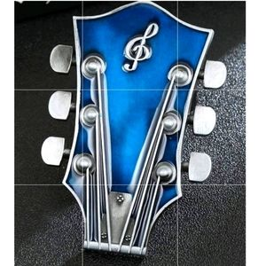 """New blue guitar belt buckle fits 1.5"""" belt"""